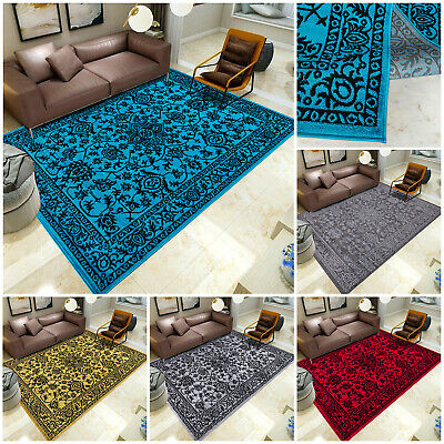 Non Slip Modern Small And Large Floral Area Rugs Living Room Bedroom Carpet Mats • 42.99£