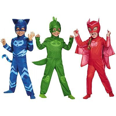 Disguise PJ Masks Catboy Gekko Owlette Classic Kids Toddler Halloween Costume • 9.99£
