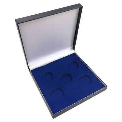 £16.90 • Buy Coin Medal Presentation Box Display Case Five Coin 44mm Navy Blue