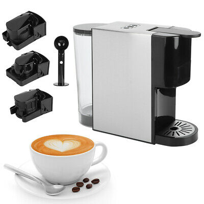 View Details 1450W 3 In 1 Electric Capsule Pod Coffee Maker Machine One Touch Operation 600ML • 99.99£