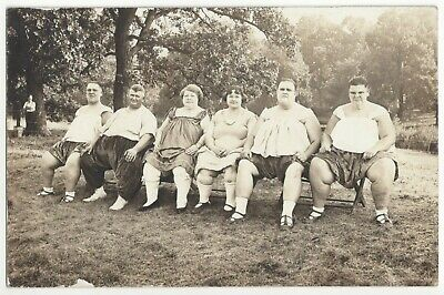 $ CDN125.64 • Buy 1918 Circus Sideshow Performers RPPC Family Of SIX Fat Obese People, Iowa