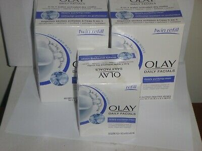 AU20.69 • Buy Olay Daily Facials Deeply Purifying Clean 5-in-1 Refills 66 Cloths
