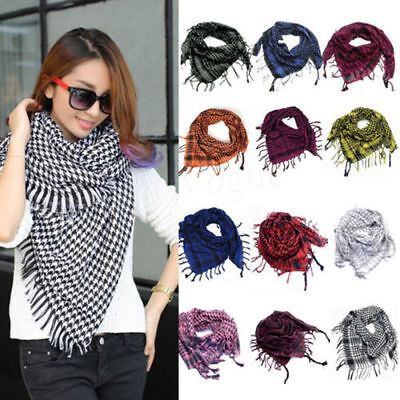 Unisex Shemagh Neck Warm Plaid Scarf Military Tactical Wrap Arab Style Scarves • 3.98£