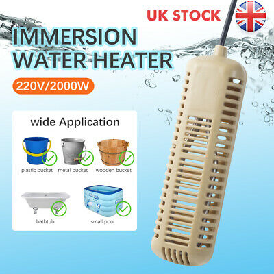 2000W Immersion Heater 220V Electric Hot Water Heater Element Bucket Boiler Pool • 27.56£