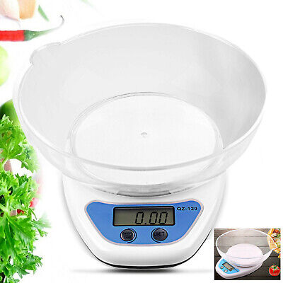 5KG Digital Kitchen Scales LCD Electronic Cooking Weighing Scale With Bowl • 8.39£