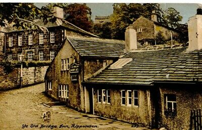 VINTAGE FRITH'S Postcard:  THE OLD BRIDGE INN RIPPONDEN W YORKSHIRE • 0.99£