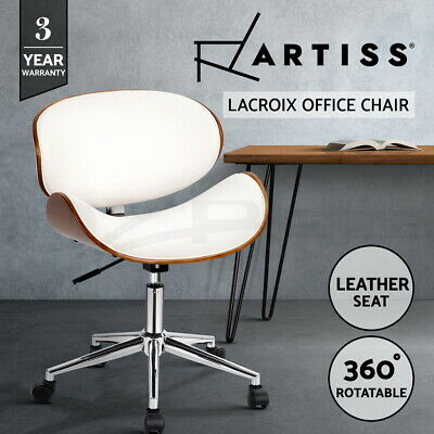 AU120.95 • Buy Artiss Office Chair Gaming Wooden Computer Chairs Home Study Work Seat White