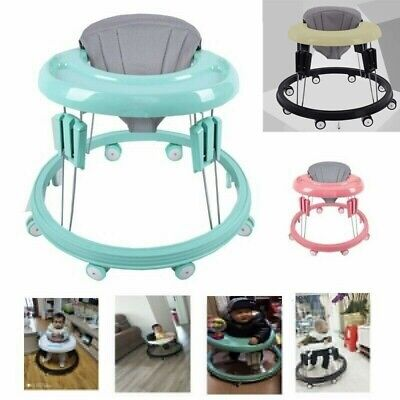 Baby Walker Activity Toy First Step Push Along Bouncer Walking Foldable Portable • 27.89£