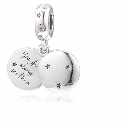 Genuine PANDORA Forever Silver S925 Charm Sterling ALE 798012FPC Sisters Pendant • 14.78£