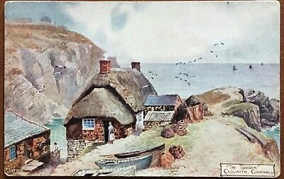 £2 • Buy Cornwall The Todden Cadgwith Vintage Jotter Art Postcard