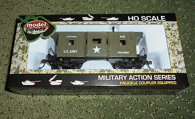 $18.98 • Buy Ho Trains Us Army Caboose Car Military Action Series By Model Power 99165