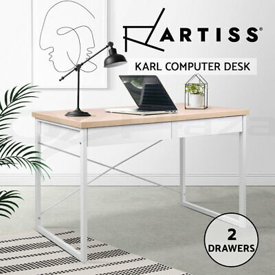 AU84.90 • Buy Artiss Computer Desk Study Student Metal Writing Table Office Drawer Cabinet