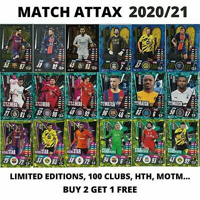 Match Attax 2020/21 20/21 Champions League Limited Editions 100 Club Hth Motm.. • 1.99£