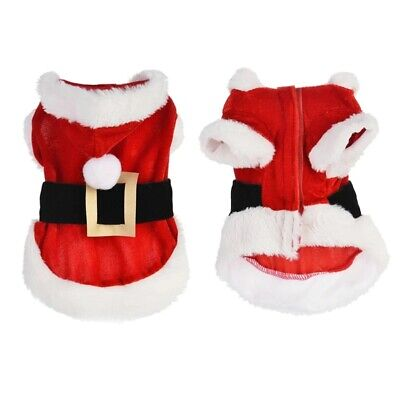 Small Cat Dog Christmas Clothes Costume Hoodie Jacket Pet Coat Puppy Outfits UK • 6.99£