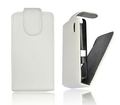 Wallet Case Cover Faux Leather White Flip Box Samsung GT-S8530 Wave 2 • 9.42£