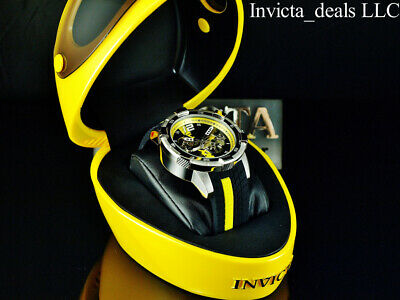 $ CDN260.54 • Buy Invicta Men's 50mm S1 Rally AUTOMATIC Skeletonized Dial Black/Yellow Tone Watch