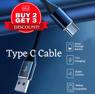 AU3.90 • Buy Type C Cable USB C Cable Braided Data Charger Cable For Samsung Huawei Google LG