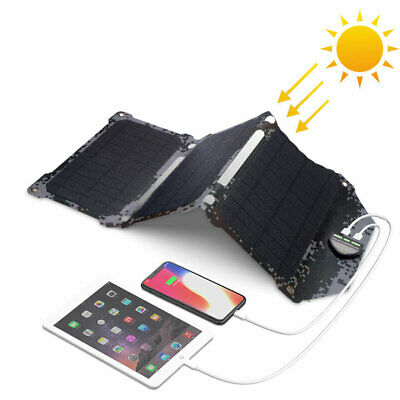 Waterproof Solar Panel Charger Outdoors Solar Chargers For IPhone 7 8 X Xr Xs • 63.56£