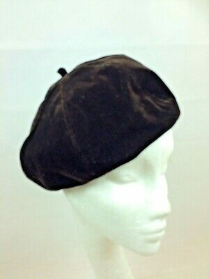 Ladies Chocolate Brown  Beret Excellent Fit Fully Lined Velvet • 11.95£