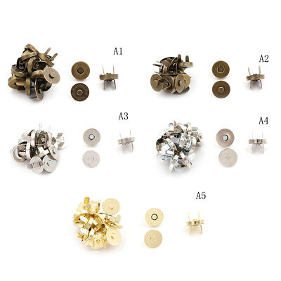 10 Sets/lot Bag Purse Clasps Sewing Buttons Magnetic Metal Snaps Fasteners WS • 2.66£