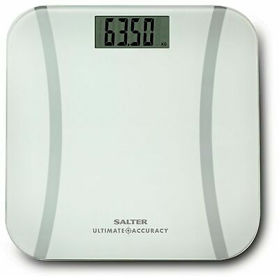 SALTER Ultimate Accuracy Glass Digital Bathroom Weighing Scales - 180kg Max -New • 18.99£