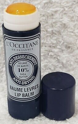 L'Occitane En Provence LIP BALM Anti-Drying 10% Shea Butter Blue .17 Oz/5g New • 10.72£