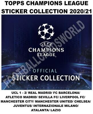Topps Champions League Stickers 2020/21 - Ucl & Spain/ England/ Italy Clubs • 1.25£