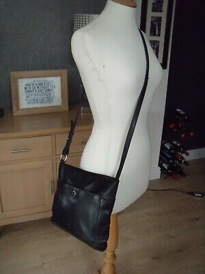 Bailey & Quinn Black Pebbled Leather Cross Body Bag Super Condition • 19.99£