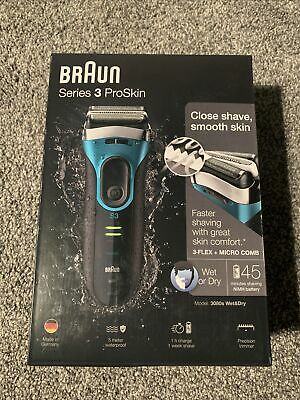 View Details Braun Series 3 ProSkin 3080s Wet And Dry Mens Electric Rechargeable Shaver Razor • 61.00£
