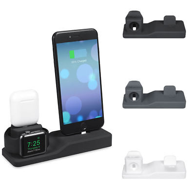 AU29.48 • Buy 3 In 1 Charging Dock Stand Holder Charger Station For Apple Watch IPhone Airpods
