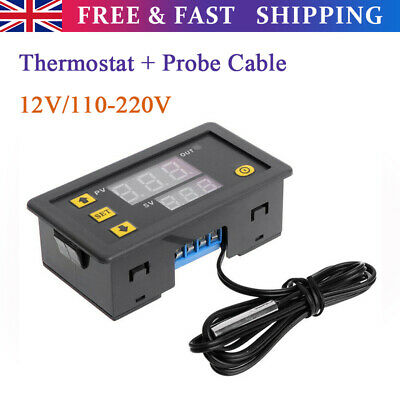 Incubator LED Digital Temperature With Control Thermostat Switch + Probe Cable • 6.39£