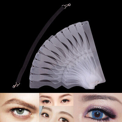 1Pc Microblading Eyebrow Stencil Makeup Reusable Measuring Shaper Tattoo Rule WS • 2.88£