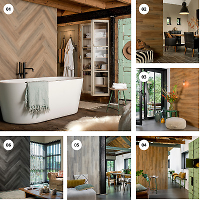 £43.28 • Buy Kitchen Wall Panel Floor Wood Planks Effect Covering Wallpaper Decorative Tile