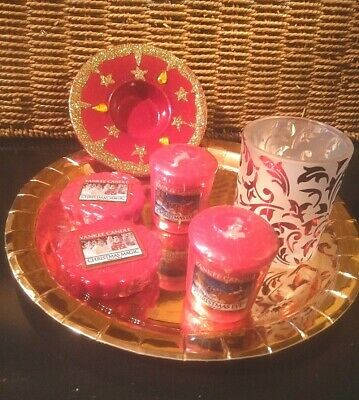 Yankee Candle Christmas Eve Sampler Votives  Holders  Melt Tarts Set • 6.50£