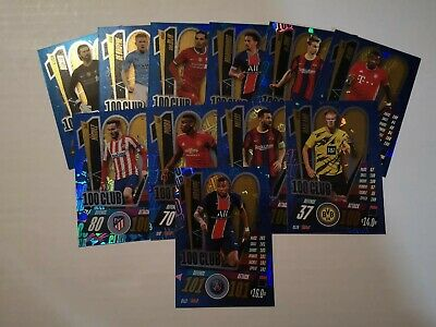Match Attax 2020/21 Champions League- ALL 11 100 CLUB CARDS - Haaland/ Messi  • 22.95£