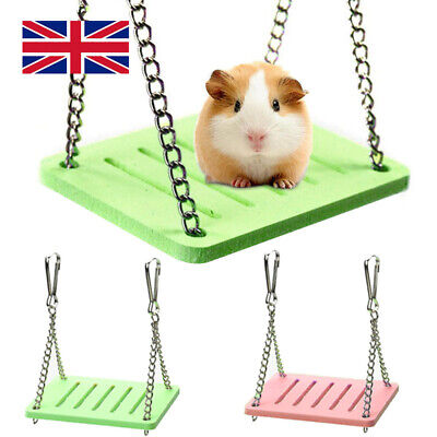 £3.59 • Buy Hanging Swing Pet Bed Rats Exercise Play Cage Hamster Toys Parrot Small Birds UK