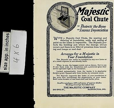 $9.97 • Buy 1919 Majestic Coal Chute Your Foundation Home Vintage Print Ad 6124