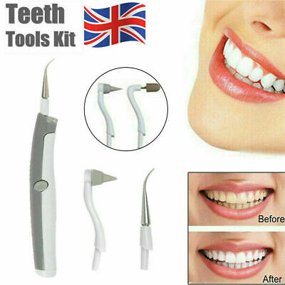 Electric Ultrasonic Tooth Cleaner Dental Stain Polisher Plaque Tartar Remover UK • 3.96£
