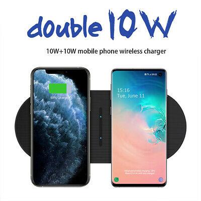 AU20.49 • Buy 20W Qi Wireless Charger Dual Charging Mat Pad For IPhone 12 Samsung S20 Note20+