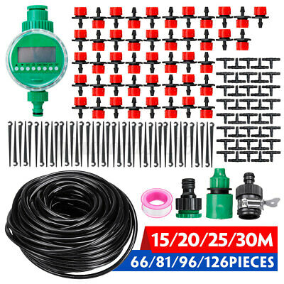 80/100FT Automatic Drip Irrigation System Plant Timer Self Watering Garden Hose  • 20.46£