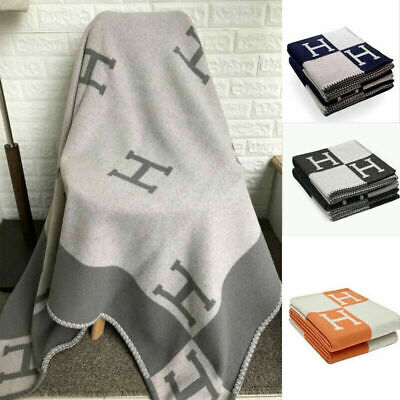 Car Travel New H-Blanket Wool Cashmere Scarf Sofa Throw Cape Scarf Warm Shawl • 39.03£