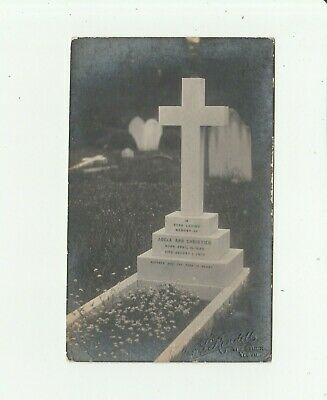 Gravestone Of Adela Ann Christien. Real Photo By A Yeovil Photographer. • 0.99£