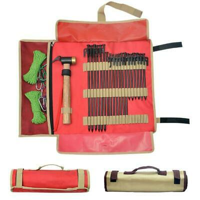 AU18.04 • Buy Outdoor Camping Tent Peg Nail Storage Bag Tent Hammer Wind Rope Folding Tote Bag