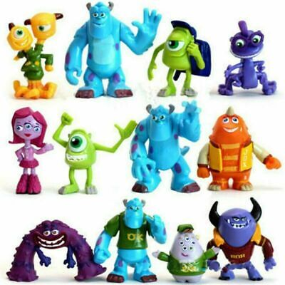 12 Monsters Inc University Sully Mike Animal Action Figure Gifts Toy Cake Topper • 9.59£