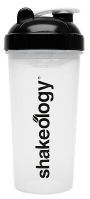 New SHAKEOLOGY Premium Blender Shaker 25 Oz BPA Free Clear Cup Bottle Smoothie • 4.75£