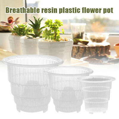 AU11.24 • Buy Breathable Clear Plastic Orchid Pots Container Planter For Gardening Garden Home