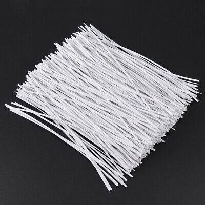 £7.51 • Buy 500pcs 15cm Plastic Coated Iron Wire Twist Ties Cable Wrap Organizer Ties