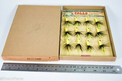 $ CDN17.63 • Buy Vintage Falls City Antique Fly Fishing Lures On Dealer Card In Box LC53