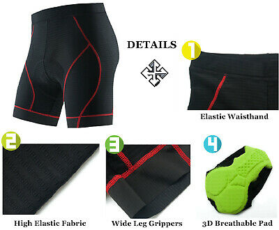 $19.99 • Buy Men's Cycling Underwear Breathable 3D Gel Pad Bicycle MTB Shorts Riding Knickers