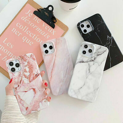 AU8.59 • Buy IPhone 12 Pro Max 12 Mini 11 XS XR 8 7 ShockProof Marble Silicone Case Cover AU